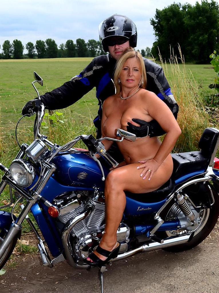 Horny biker girl gets off 3